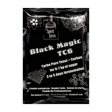 Турбо дрожжи с углем Black Magic TC6